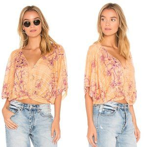 NWOT Free People Once Dance Floral Blouse S
